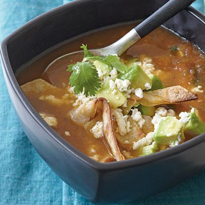 Roasted Tomato Tortilla Soup Recipe