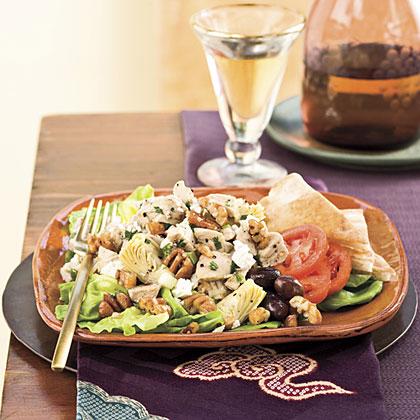 Turkey-Artichoke-Pecan Salad Recipe