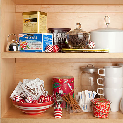 Stock your holiday pantry so you're always party-ready. See our list of must-have pantry items.Prep the Pantry