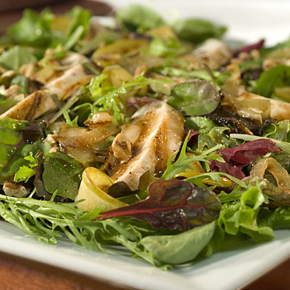 Caramelized Apple Salad with Grilled Chicken Recipes Recipe
