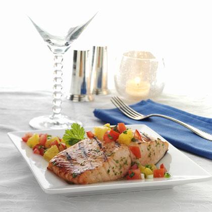 Grilled Salmon with Citrus-Tomato Salsa Recipes