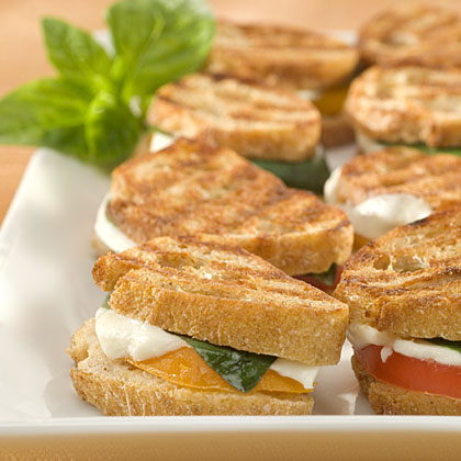 I Can't Believe It's Not Butter Italian Grilled Cheese Panini Bites Recipes