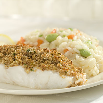 Lemony Walnut-Crusted Fish Fillet Recipes