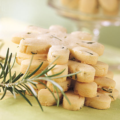 Fresh rosemary adds a fragrant quality to these delicate cookies.Rosemary Shortbread Cookies