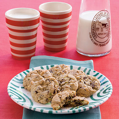 Pistachio-and-Cherry CookiesRecipe