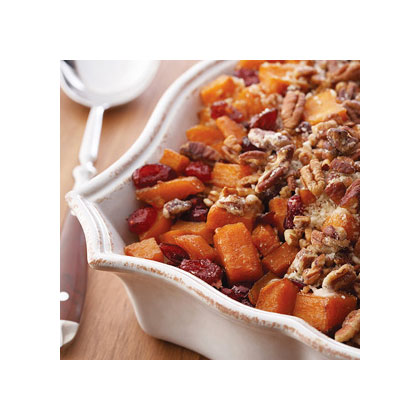 Roasted Sweet Potatoes with Cinnamon Pecan Crunch Recipes