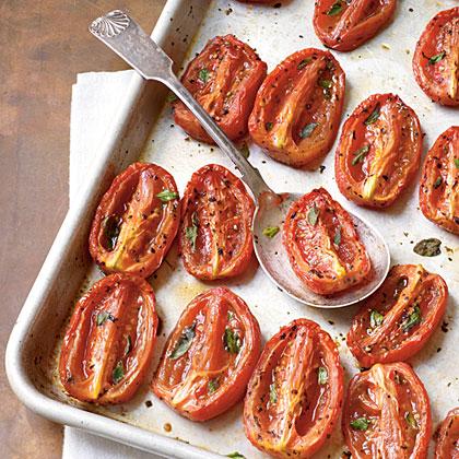 Aromatic Slow-Roasted Tomatoes Recipe MyRecipes