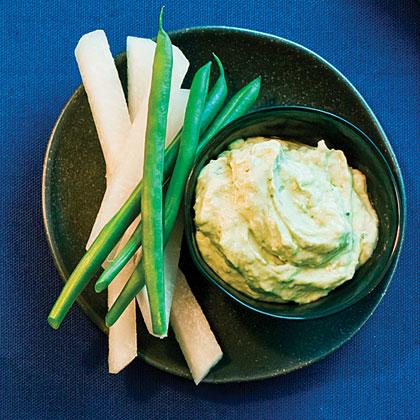Veggie Sticks with Avocado-Lime Dip