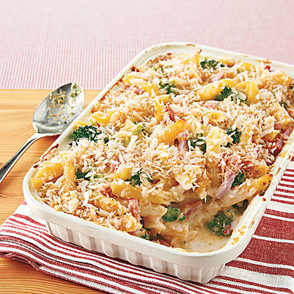 Baked Penne with Ham and Broccoli Recipe