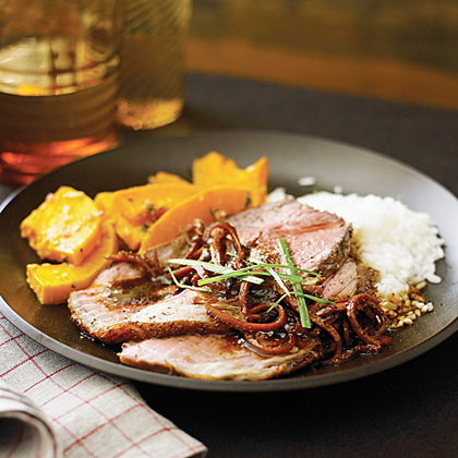 Spicy Beef Cross-Rib Roast with Caramelized Clementine Sauce Recipe