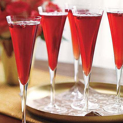 Champagne-Pomegranate Cocktail