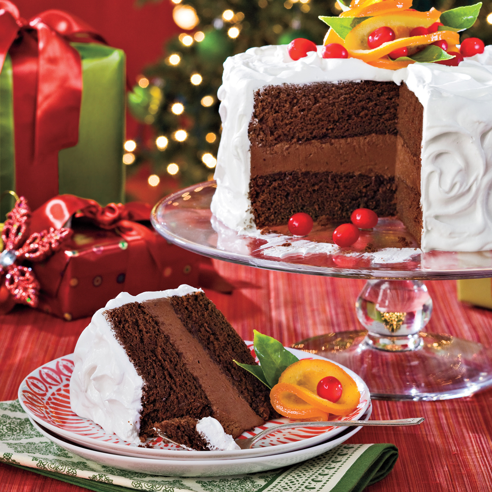 Chocolate-Citrus Cake With Candied Oranges