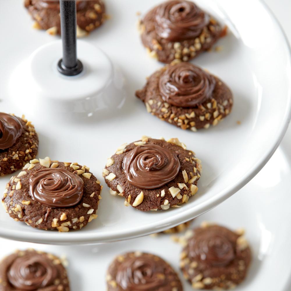 Chocolate-Hazelnut Thumbprints