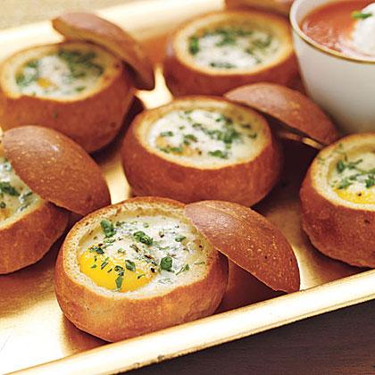 Baked eggs in bread bowls recipe myrecipes baked eggs in bread bowls forumfinder Images