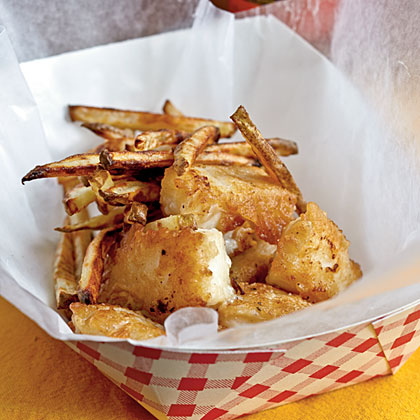 Beer battered fish and chips recipe myrecipes for Light batter for fish