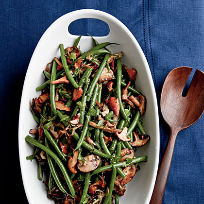 Sherried Green Beans and Mushrooms Recipe