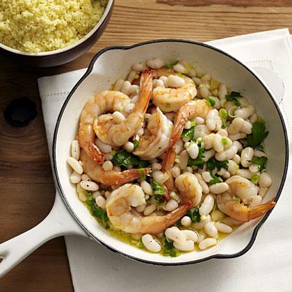shrimp-beans-couscous