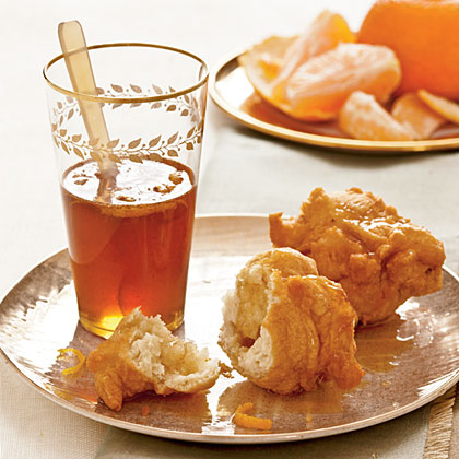 Loukoumades with Honey-Orange Sauce