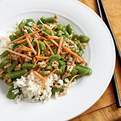Sour Beans with Minced Pork