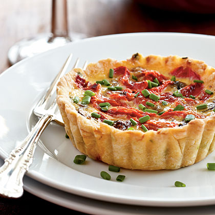 Mushroom and Roasted Pepper Tarts Recipe