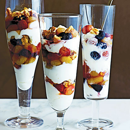 Slow-Roasted Grape and Yogurt Parfaits