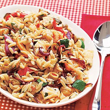 Roasted-Vegetable Orzo SaladRecipe