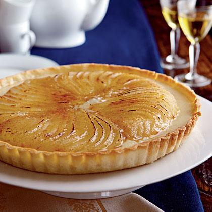 Roasted Pear Crème Brûlée Tart