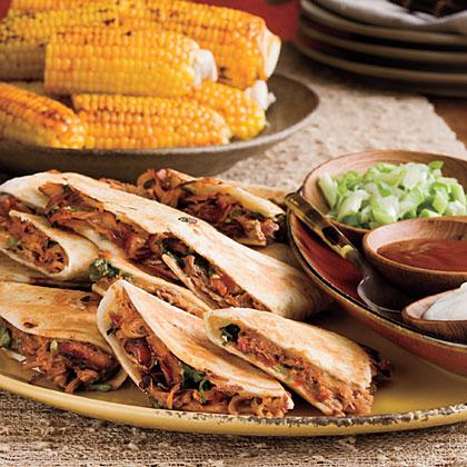 Barbecued Pork Quesadillas Recipe