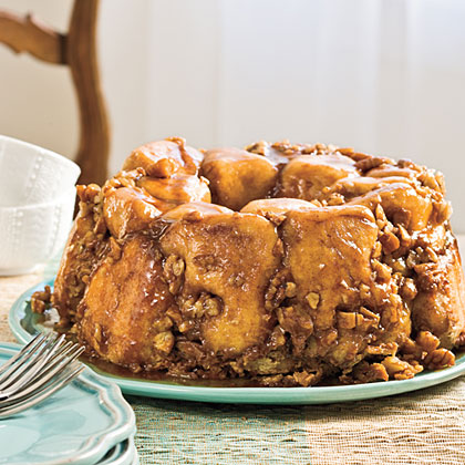 Praline Pull-Apart Bread RecipeHoliday guests are sure to love this ooey-gooey breakfast bread filled with the flavors of that classic holiday candy - pralines!Video: How to Make Praline Pull-Apart Bread