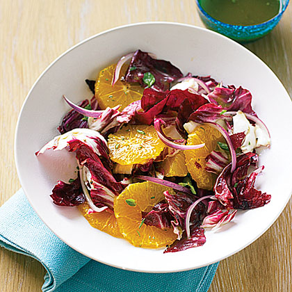 Orange, Radicchio, and Oregano Salad