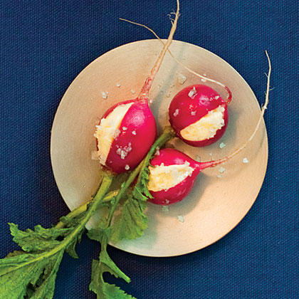 Radishes with Butter and Sea Salt Recipe