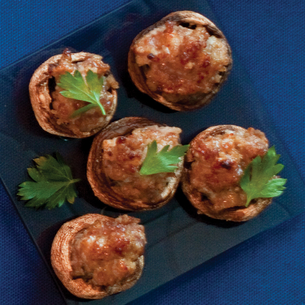 Sausage Mushroom Caps