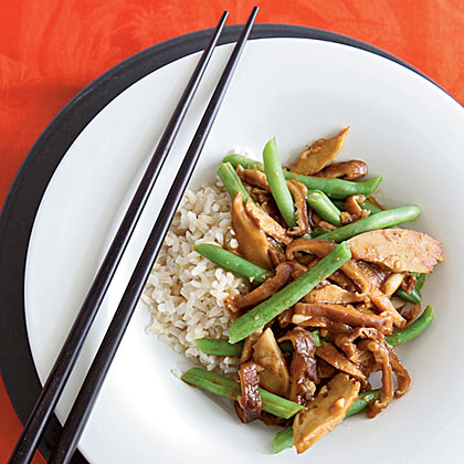 Seitan Stir-Fry with Black Bean Garlic Sauce