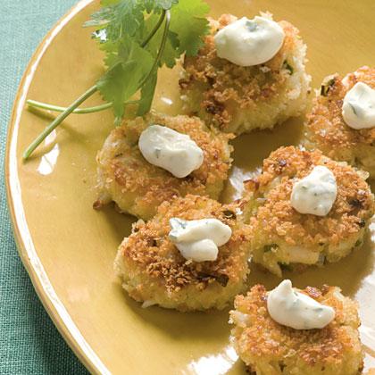 Bite-size Wasabi Crab Cakes