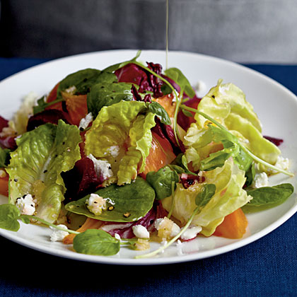 Winter Salad with Roasted Beets and Citrus Reduction Dressing Recipe