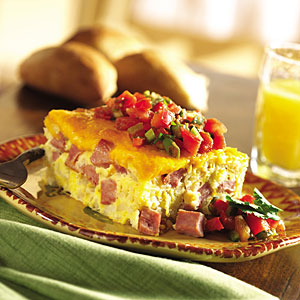 Ham and Cheese Baked Frittata Recipes