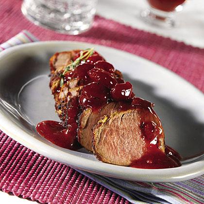 Pork Tenderloin with Cherry Compote Recipes