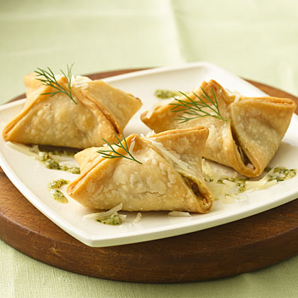 Salmon Pastries with Dill Pesto Recipes