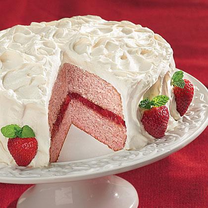 Strawberries and Cream Cake Recipes