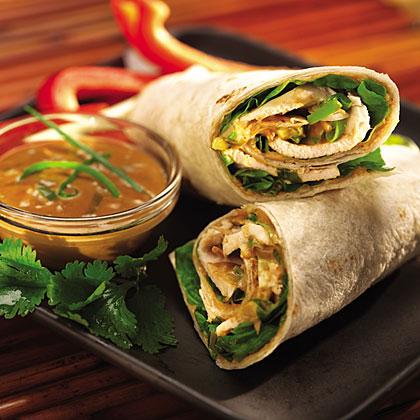Thai Peanut Butter Chicken Wraps RecipesRecipe