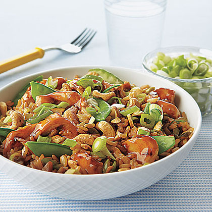 Chicken, Snow Pea and Cashew Fried RiceRecipe