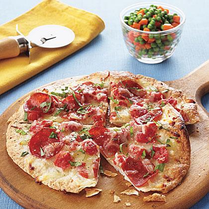 Thin-Crust Turkey Pepperoni PizzasRecipe