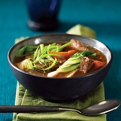 Chinese-Style Beef, Sweet Potato, and Bok Choy Stew