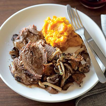 Pot Roast with Wild Mushrooms and Fresh ThymeRecipe