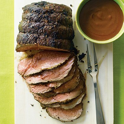 Roast Bison with Velvety Pan Gravy