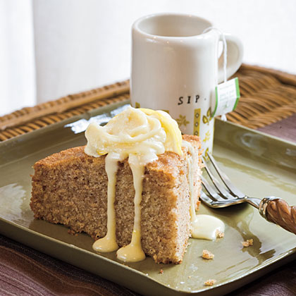 Lemon Hard Sauce With Gingerbread