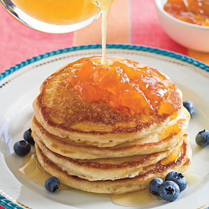 Pam-Cakes With Buttered Honey Syrup