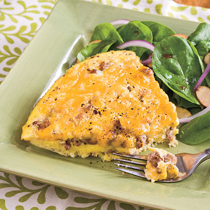 Sausage-and-Cheese Frittata Recipe | MyRecipes