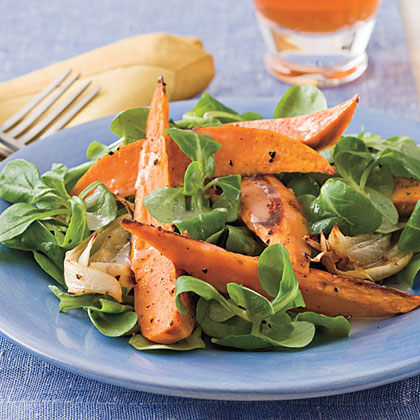 Roasted Sweet Potato Salad With Citrus VinaigretteRecipe