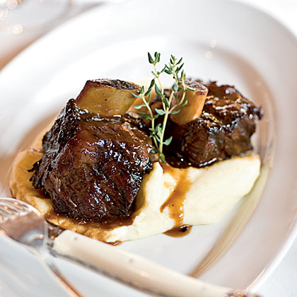 Braised Beef Short Ribs With Red Wine Gravy And Swiss Chard Recipes ...